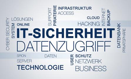 IT-Sicherheit Cloud mit Text